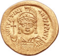 Ancients:Byzantine, Ancients: Justinian I the Great (AD 527-565). AV solidus (21mm, 4.50 gm, 6h). ...
