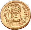 Ancients:Byzantine, Ancients: Justinian I the Great (AD 527-565). AV solidus (21mm, 4.50 gm, 6h)....