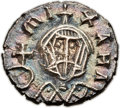 "Ancients:Byzantine, Ancients: Michael III ""the Drunkard"" (AD 842-867). Base AV semissis(13mm, 1.58 gm, 6h). ..."
