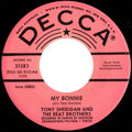 "Music Memorabilia:Recordings, Beatles (Tony Sheridan and The Beat Brothers) ""My Bonnie""/ ""TheSaints"" Rare Pink Label Promo 45 Single (Decca 31382, 1962)...."
