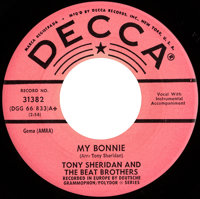 "Beatles (Tony Sheridan and The Beat Brothers) ""My Bonnie""/ ""The Saints"" Rare Pink Label Promo 45 Sin..."