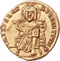 Ancients:Byzantine, Ancients: Basil I the Macedonian (AD 867-886), with Constantine. AVsolidus (20mm, 4.43 gm, 6h)....