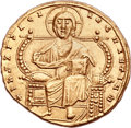 Ancients:Byzantine, Ancients: Constantine VII Porphyrogenitus (AD 913-959), with Romanus II (AD 945-963). AV solidus (22mm, 4.46 gm, 6h). ...
