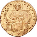 Ancients:Byzantine, Ancients: Constantine VII Porphyrogenitus (AD 913-959), with Romanus II (AD 945-963). AV solidus (21mm, 4.40 gm, 6h). ...