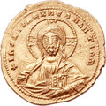 Ancients:Byzantine, Ancients: Basil II Bulgaroctonos (AD 976-1025), with ConstantineVIII. AV histamenon nomisma (22mm, 4.44 gm, 7h). ...