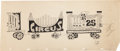 Animation Art:Production Drawing, The Circus Train Production Drawing Animation Art (PantomimePictures, 1977)....