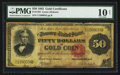 Large Size:Gold Certificates, Fr. 1193 $50 1882 Gold Certificate PMG Very Good 10 Net.. ...