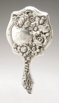 Silver Holloware, American:Mirrors and Vanity-related , An American Silver Hand Mirror. Maker unknown, 1904. Monogram tothe reverse LS, marked on the front PAT. SEPT.2...
