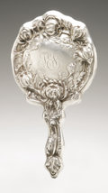 Silver Holloware, American:Mirrors and Vanity-related , An American Silver Hand Mirror. Old Newbury Crafters, Newburyport,MA, Early Twentieth Century. Monogram to the revers...
