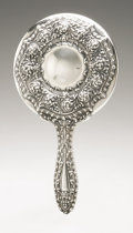 Silver Holloware, American:Mirrors and Vanity-related , An American Silver Hand Mirror. Unger Bros., Newark, NJ, EarlyTwentieth Century. Hallmark to the reverse with STERL...