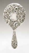 Silver Holloware, American:Mirrors and Vanity-related , An American Silver Hand Mirror. Simons Bros.& Co.,Philadelphia, PA, Late Nineteenth Century. Hallmark to the sidewit...