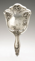 Silver Holloware, American:Mirrors and Vanity-related , An American Silver Hand Mirror. Maker unknown, Early TwentiethCentury. Marked on the front STERLING. 10.6in. long...