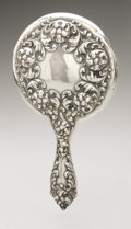 Silver Holloware, American:Mirrors and Vanity-related , An American Silver Hand Mirror. Maker unknown, Early TwentiethCentury. Marked on the reverse STERLING/751. 9in. l...