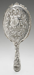 Silver Holloware, British:Holloware, An English Silver Hand Mirror. Maker unknown, 1891. Hallmarks tothe reverse. 10.8in. long x 4.5in. wide...