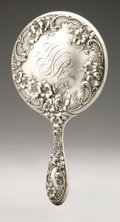 Silver Holloware, American:Mirrors and Vanity-related , An American Silver Hand Mirror. Alvin Corporation, Providence, RI,Early Twentieth Century. Script monogram to the rev...
