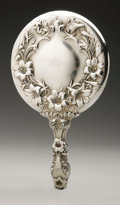 Silver Holloware, American:Mirrors and Vanity-related , An American Silver Hand Mirror. Maker unknown, Early TwentiethCentury. Marked to the top of the handle STERLING 707...