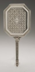 Silver Holloware, American:Mirrors and Vanity-related , An American Silver Vanity Set. Tiffany & Co., New York, NY,Early Twentieth Century. Comprising a hand mirror, hair br...(Total: 3 Items)