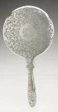 Silver Holloware, American:Mirrors and Vanity-related , an American Silver Vanity Set. James E. Blake Co., Attleboro, MA,Early Twentieth Century. Comprising a hand mirror, h... (Total: 3Items)