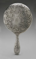 Silver Holloware, American:Mirrors and Vanity-related , An American Silver Hand Mirror. Maker unknown, Early TwentiethCentury. Old English-style monogram to the reverse H,...