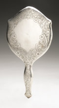 Silver Holloware, American:Mirrors and Vanity-related , An American Silver Hand Mirror and Brush. Watrous Mfg. Co.,Wallingford, CT, Early Twentieth Century. Hallmark to the ...(Total: 2 Items)
