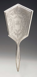Silver Holloware, American:Mirrors and Vanity-related , An American Silver Hand Mirror. Webster Co., North Attleboro, MA,Early Twentieth Century. Script monogram to the reve...