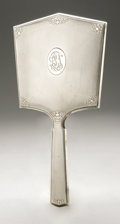 Silver Holloware, American:Mirrors and Vanity-related , An American Silver Hand Mirror. R. Blackinton & Co., NorthAttleboro, MA, Early Twentieth Century. Monogram to the rev...