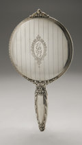 Silver Holloware, American:Mirrors and Vanity-related , An American Silver Hand Mirror. Watson Co., Attleboro, MA, EarlyTwentieth Century. Monogram to the reverse GLE, h...