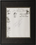 Autographs:Others, 1970 Roberto Clemente Signed Letterhead. Perhaps the most perfectly rendered Clemente autograph in the hobby also ranks amo...