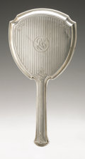 Silver Holloware, American:Mirrors and Vanity-related , An American Silver Hand Mirror. Watrous Mfg. Co., Wallingford, CT,Late Nineteenth Century. Script monogram to the rev...