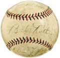 Autographs:Baseballs, 1927 New York Yankees & Pittsburgh Pirates World Series TeamSigned Baseball. Fabulous relic provides a sampling of both Bo...