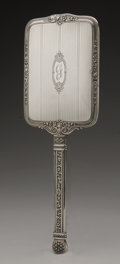 Silver Holloware, American:Mirrors and Vanity-related , An American Silver Hand Mirror. R. Blackington & Co., NorthAttleboro, MA, Early Twentieth Century. Monogram to the re...