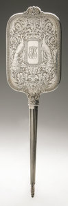 Silver Holloware, American:Mirrors and Vanity-related , An American Silver Hand Mirror. International Sterling Co.,Meriden, CT, Early Twentieth Century. Script monogram to t...