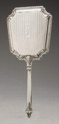 Silver Holloware, American:Mirrors and Vanity-related , An American Silver Hand Mirror. Maker unknown, Early TwentiethCentury. Monogram to the reverse P, unidentified ha...