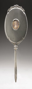 Silver Holloware, American:Mirrors and Vanity-related , An American Silver Hand Mirror. La Pierre Mfg. Co., Newark, NJ,Early Twentieth Century. Hallmark to the top of the ha...