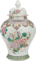Asian:Chinese, A CHINESE PAINTED AND ENAMEL PORCELAIN GINGER JAR. 21-1/2 incheshigh (54.6 cm). ...