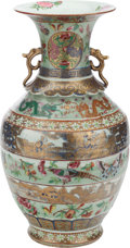 Asian:Chinese, A CHINESE PAINTED PORCELAIN VASE . 16-1/4 inches high (41.3 cm)....