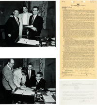 Elvis Presley Historic Twice-Signed Contract with The William Morris Agency (1956)