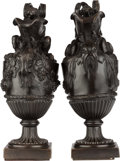 Bronze:European, A PAIR OF BRONZE WATER AND WINE EWERS AFTER JOHN FLAXMAN. 17-3/4 inches high (45.1 cm). ... (Total: 2 Items)