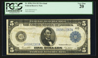 Fr. 859b $5 1914 Federal Reserve Note PCGS Very Fine 20