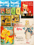 Books:Children's Books, [Children's]. Group of Four Books and Toys for Children. Includes aMattel music maker book (1951), a guide to making your o... (Total:4 Items)