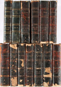 Books:Periodicals, [Periodicals]. Group of Thirteen Volumes (Incomplete) of TheGalaxy, Spanning the Years 1868-1877. New York: She... (Total:13 Items)