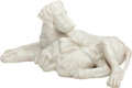 Decorative Arts, Continental:Other , AN ITALIAN CARVED MARBLE FAMILY OF DOGS, 20th century. 16 x 33 x 23inches (40.6 x 83.8 x 58.4 cm). ...