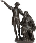 Bronze:European, A BRONZE GROUP DEPICTING EXPLORERS JOHN AND SEBASTIAN CABOT AFTER JOHN CASSIDY. Marks: John Cassidy Fecit. 39-1/2 x 32 x...
