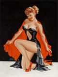 Pin-up and Glamour Art, PETER DRIBEN (American, 1902-1968). Sweet and Sultry, BeautyParade magazine cover, April 1948. Oil on board. 34 x 26 in...