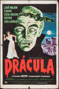 "Movie Posters:Horror, Horror of Dracula (Universal International, 1958). International Spanish One Sheet (27"" X 41""). Horror.. ..."