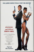 "Movie Posters:James Bond, A View to a Kill (United Artists, 1985). One Sheet (27"" X 41"") Advance. James Bond.. ..."