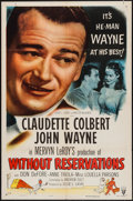 "Movie Posters:Comedy, Without Reservations (RKO, R-1953). One Sheet (27"" X 41"") Style A. Comedy.. ..."