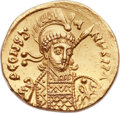 Ancients:Byzantine, Ancients: Constantine IV (AD 668-685). AV solidus (20mm, 4.32 gm,6h)....