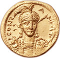 Ancients:Byzantine, Ancients: Constantine IV (AD 668-685). AV solidus (20mm, 4.38 gm,6h)....