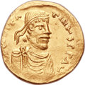 Ancients:Byzantine, Ancients: Constantine IV (AD 668-685). AV semissis (18mm, 2.14 gm, 6h). ...